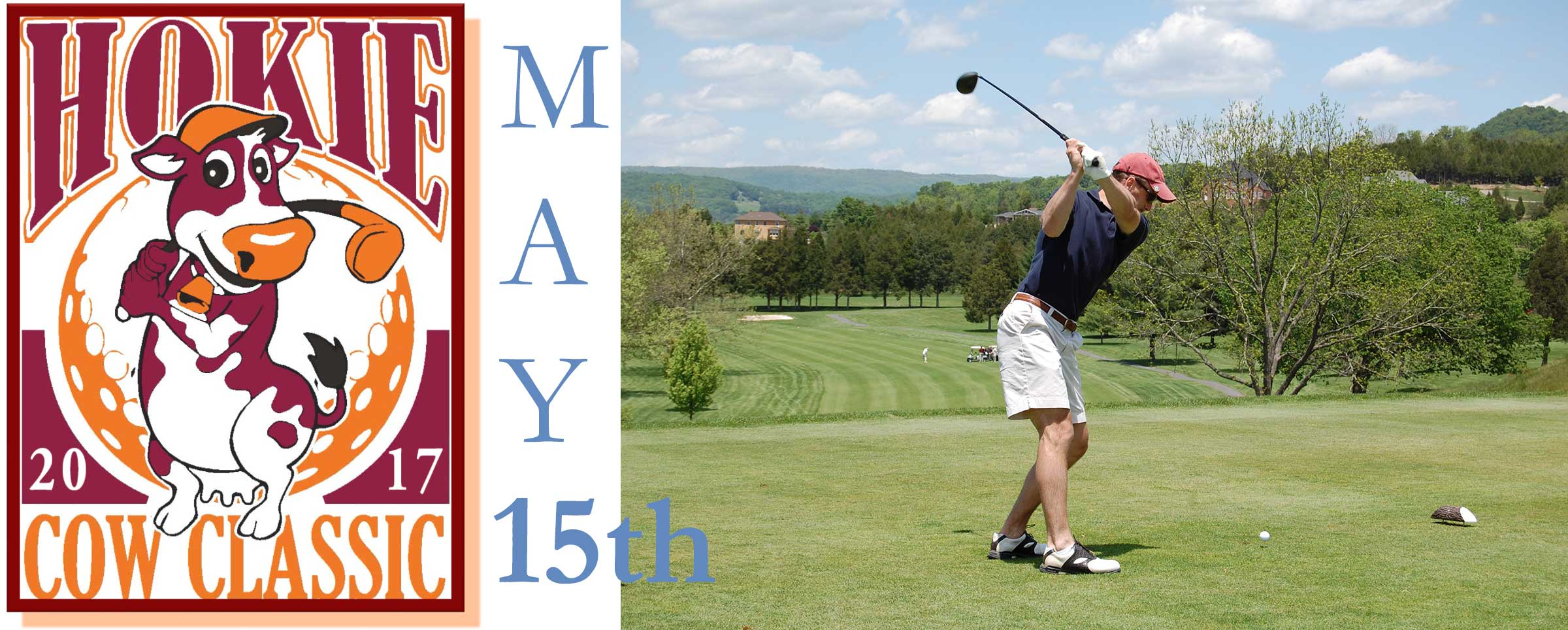 This year's golf tournament is set for May 15th!