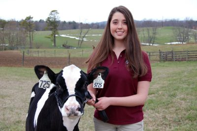 005 - Rachel Kellog and her heifer