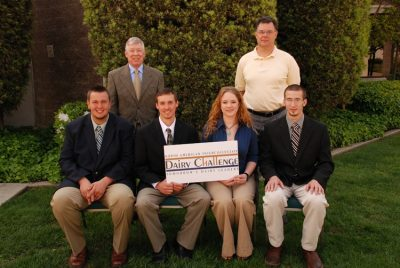 2010 Challenge Team--pictured (left to right): Alex Steer, Dustin Phipps, Dare Shepherd, Curtis Rhoderick. Back row, coaches Dr. Mike McGilliard and Dr. Mark Hanigan.