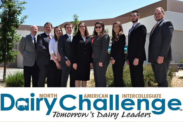 2018 Virginia Tech Dairy Challenge Team: (L to R) Dr. Alex White, Andrew Laffey, Sarah Baynard, Mark Phillips, Lydia Harrison, Nicki Hardy, Erin Saacke, Matthew Smith , Zack Seekford.