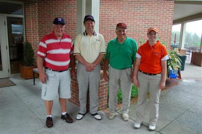 DFA - Maroon. Pictured left to right: Jim Reese, Bob Shipley, Jerry Henderson, Brittany Thompson.