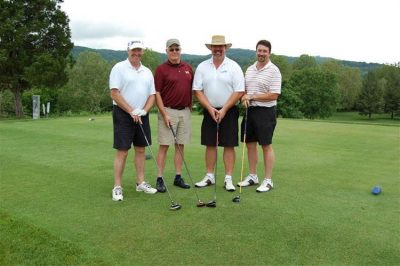 DOW Elanco. Pictured left to right: Brian Riggers, Bob James, John Sheets,  Rodney Dellis.