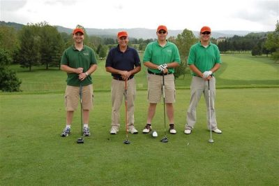 Farm Credit of the Virginias. Pictured left to right: Jason Aker, Maxie Aker, Brian Repass, Nate Aker.
