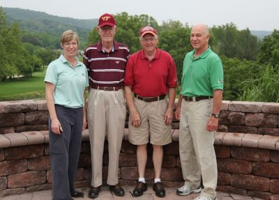 2011 Hokie Cow Classic.  Virginia Tech Maroon -- (left to right) Katharine Knowlton, Neal Boyd, Dave Ford, Mike Barnes.