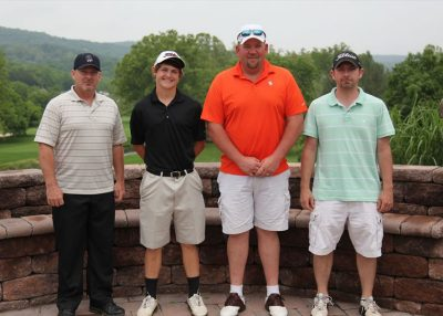 2011 Hokie Cow Classic. Exchange Milling--(left to right) Dwayne Hodges, Kolton Cooper, JJ Kinsey, Chuck Hazelwood.