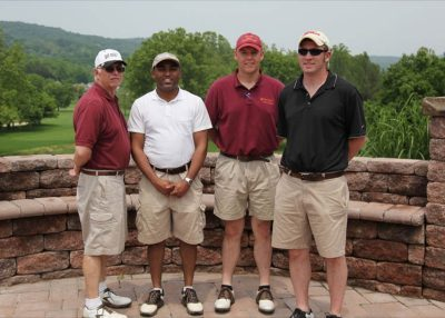 2011 Hokie Cow Classic. Farm Credit of the Virginias--(left to right) Frank Gwazdauskas, Melvin Woodson, Brian Repass, Jason Lanier.