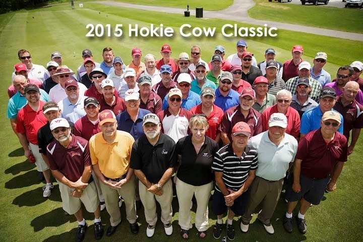 Group photo from the 2015 Hokie Cow Classic.
