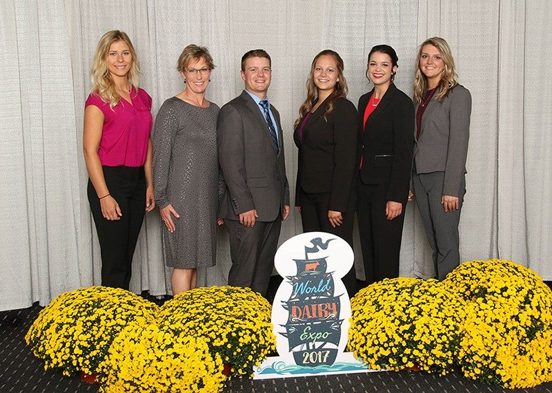 L to R: Kathryn Wright (Student Assistant Coach), Dr. Katharine Knowlton (Coach), Blake Smith, Cortney Hostetter, Hannah Van Dyk, Kayla Umbel.